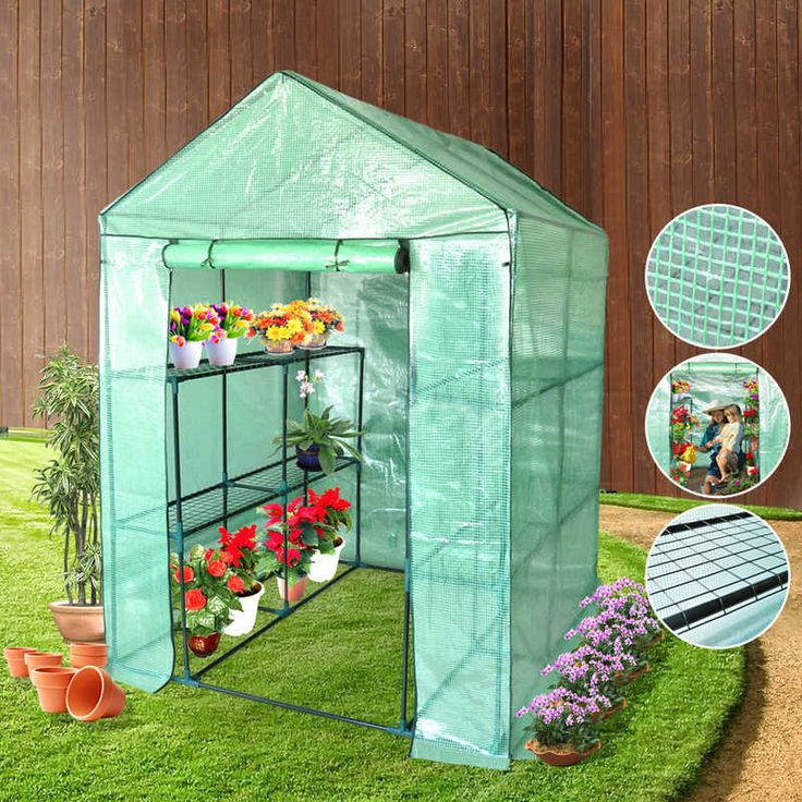 Walk In Garden Greenhouse with Apex Roof 155x140cm | Buy Walk-In Greenhouses