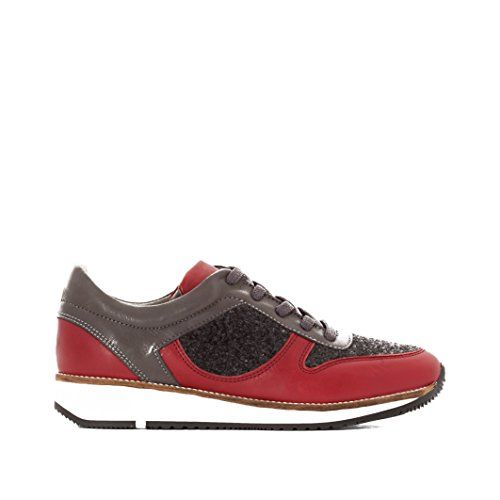 La Redoute Womens Leather Trainers Red Size 38 * Read more reviews of the product by visiting the link on the image.