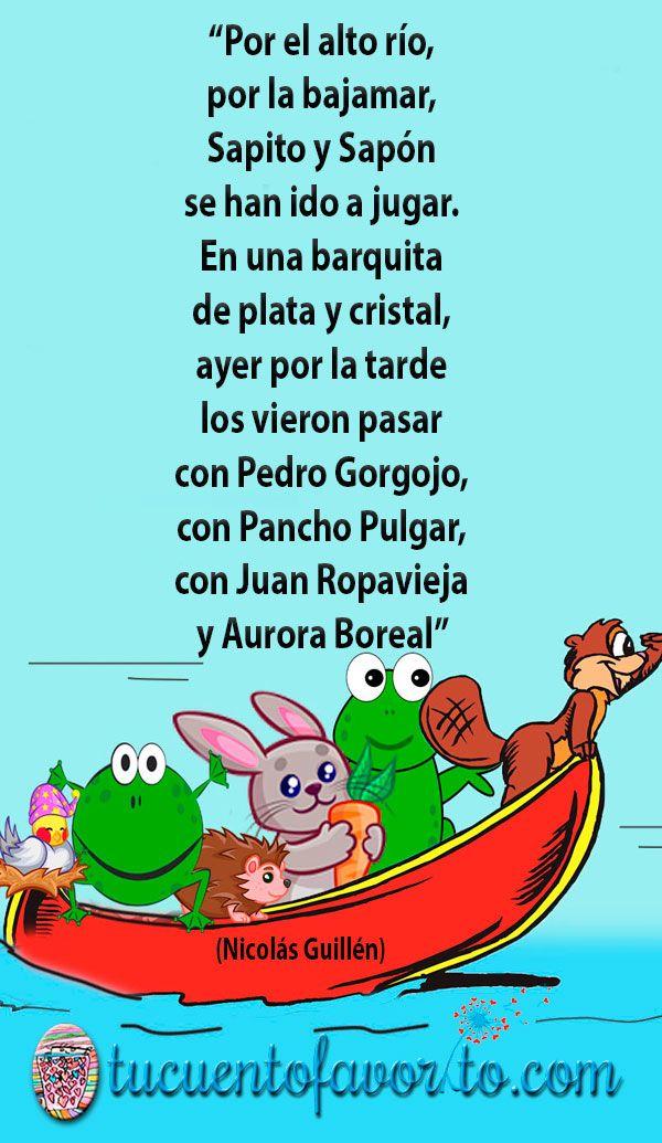 Por El Alto Río Una Poesía Para Niños Muy Divertida Poesía Para Niños Poesias Cortas Para Niños Poemas Para Niños