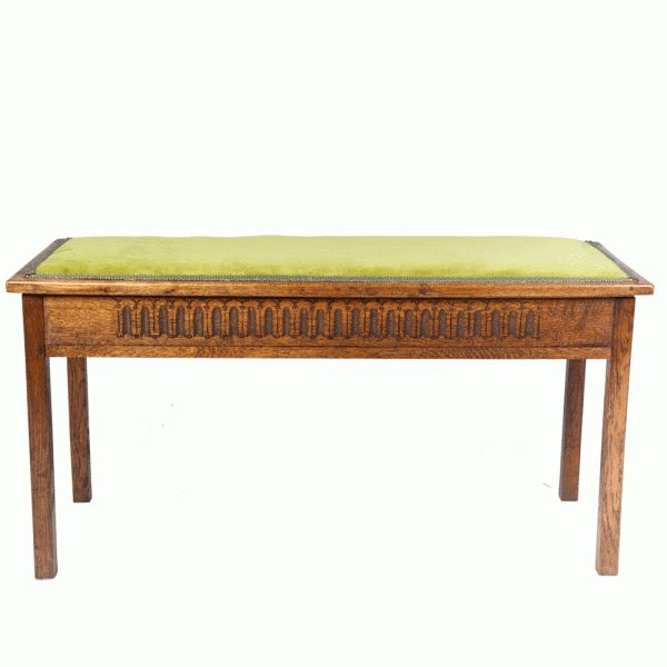 A solid oak mid century duet piano stool (with storage) re-covered by The Unique Seat Company in a beautiful lime green stain resistant fabric.  sc 1 st  Pinterest & 16 best Antique Piano Stools by The Unique Seat Company images on ... islam-shia.org