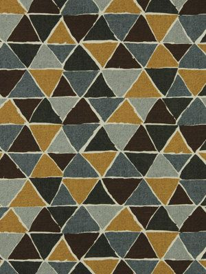 Charcoal Gray Upholstery Fabric -  Geometric Fabric by the Yard - Grey Yellow Drapery Fabric