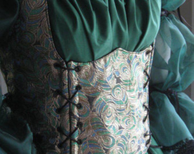 DDNJ scelgono il tessuto reversibile lato pizzo sottoseno corsetto corpetto stile e su misura di qualsiasi dimensione rinascimentale Anime pirata costumi di SCA