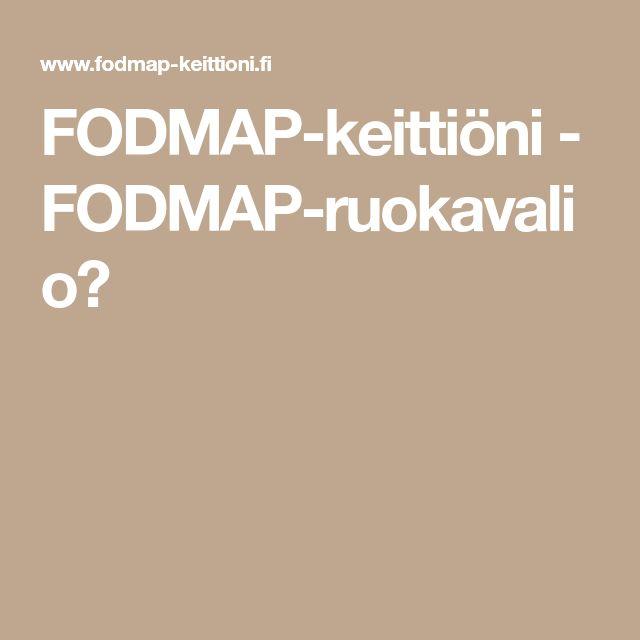FODMAP-keittiöni - FODMAP-ruokavalio?