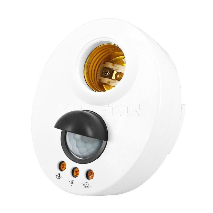 1pc body infrared IR sensor PIR motion detector E27 LED Night Wall Light Base Lamp Holder Socket 110V~220V Automatic Adjustable