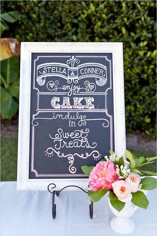 wedding chalkboard sign ideas