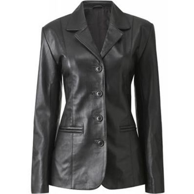 Haena Womens Leather Coat