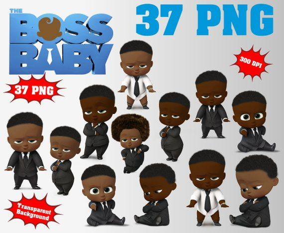 African The Boss Baby Clipart Logo Included 45 Png 300 Dpi