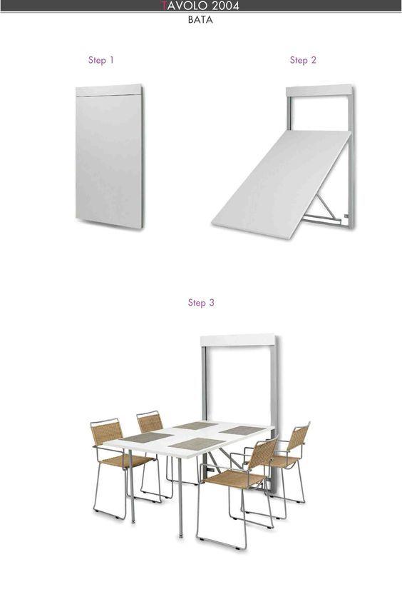 Soluzione salvaspazio per cucine piccole: il tavolo a scomparsa ...