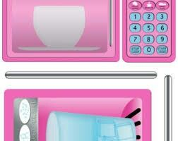 Pink microwave stickers