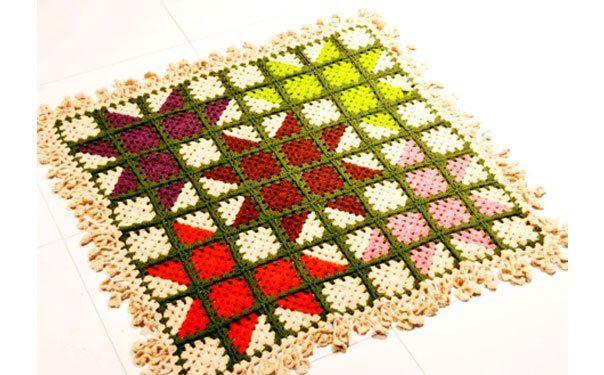 Вязаный коврик «Мозаика» | Эфария