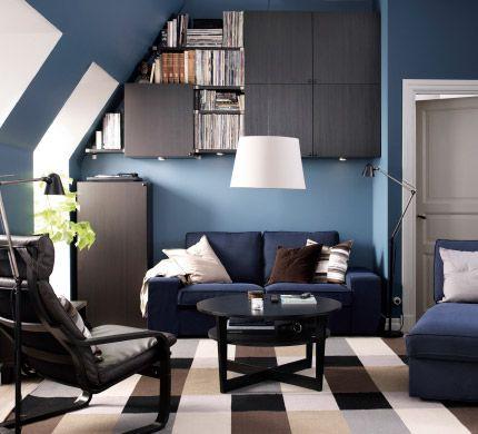 Kleine Woonkamer Met Ruimte Voor Een Bank En Een Kast 2015 Ikea Hemnes Expedit Etc