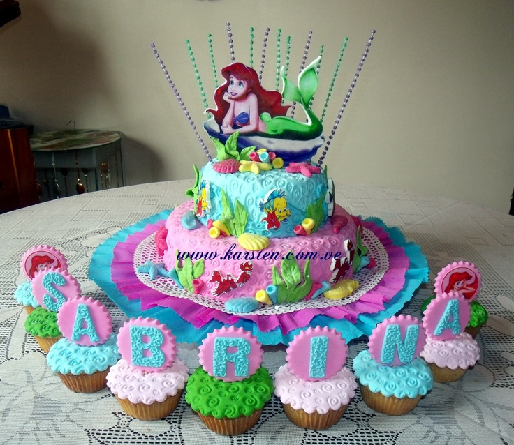 Torta Y Cupcake 180 S De La Sirenita For Munchkin