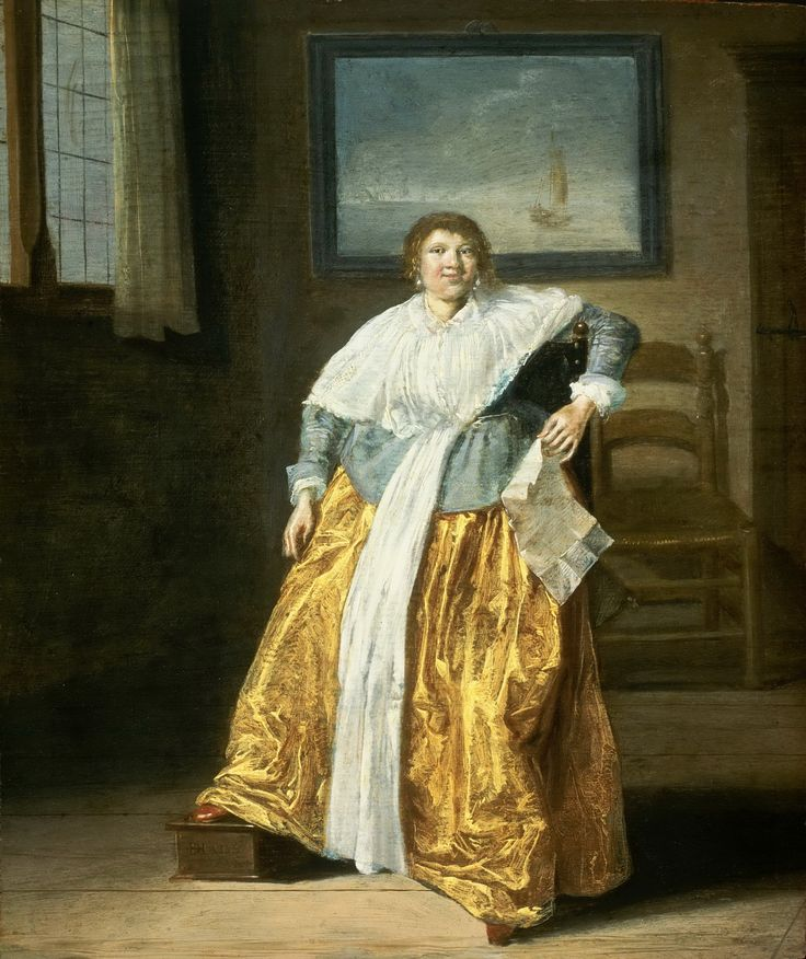 Dirck Hals (Дирк Халс, 1591-1656, Dutch Baroque Era painter). Seated Woman with a Letter  1633 Музей искусств Филадельфии