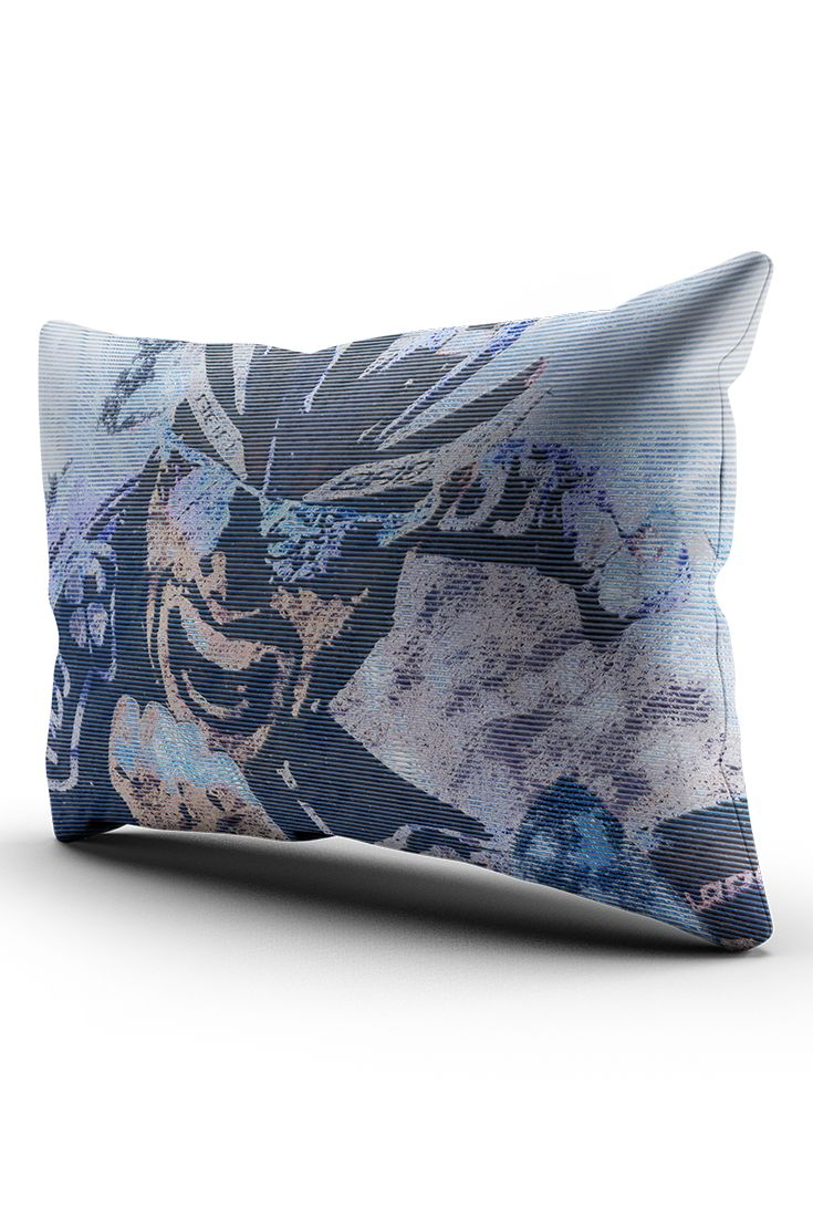 """A decorative throw pillow with graphic theme of Thibaut Pinot with his personal motto """"Solo La Vittoria È Bella"""". Prints with sharp image and colours using glitch technic and grit texture."""