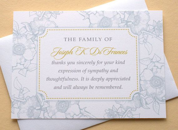 the 25  best funeral thank you cards ideas on pinterest