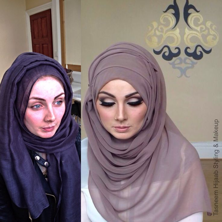 Contour like a PRO + Smoky eyes FT. INAYAH COLLECTION   Tasneem Hijaab S... / the tutorial is at the end of the video
