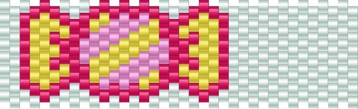 Candy Pony Bead Patterns | Food Kandi Patterns for Kandi Cuffs