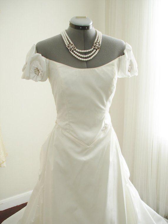 1ea95ddb46b Vintage Priscilla of Boston Designed by John Burbidge Beaded Wedding Gown