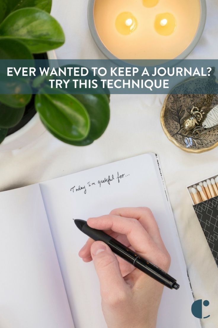 Want to keep a diary but can't seem to stick to the habit? Try this technique that makes you happier along the way. It's called the Gratitude Journal.    #tips, #journal, #journaling, #techniques, #lifestyle, #notebook, #talk, #featured, #Curbly-Original