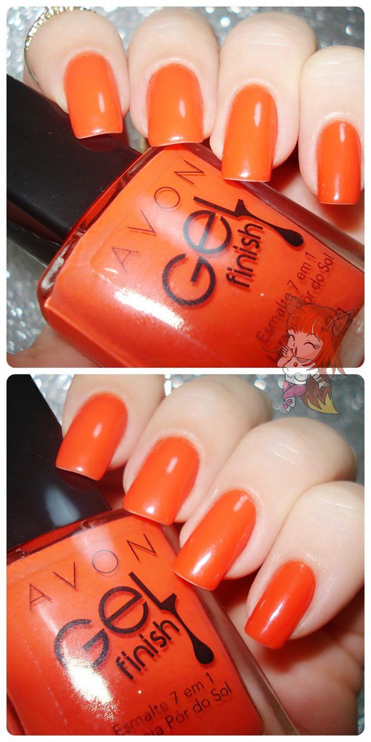 Esmalte Avon Gel Finish :: Laranja Por do Sol - Resenha  http://www.ruivacohen.com.br/2016/04/esmalte-avon-gel-finish-laranja-por-do.html
