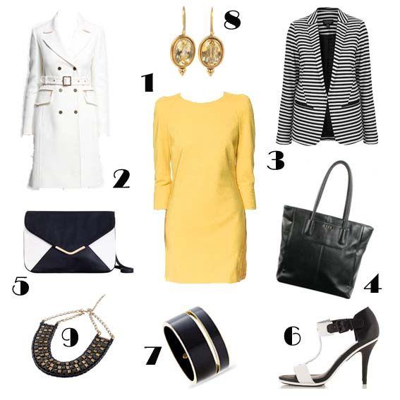Combinando un vestido amarillo