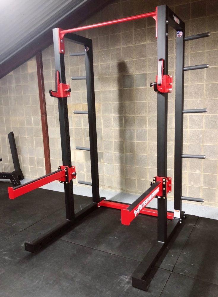 Defender strength training half rack iron company ic usa dhc