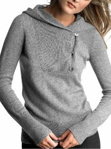 Cashmere shawl hoodie- would love this in navy color.