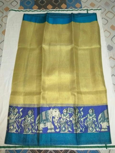 Tissue Sarees With Printed Design | Buy Online Sarees | Elegant Fashion Wear