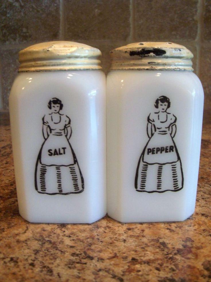 Glass Salt Shakers Ruby Lane