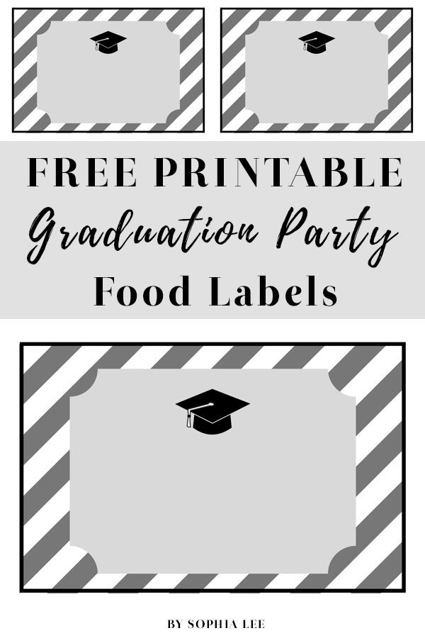 photo regarding Free Printable Graduation Labels titled No cost Printable Commencement Bash Foods Labels Grad Bash