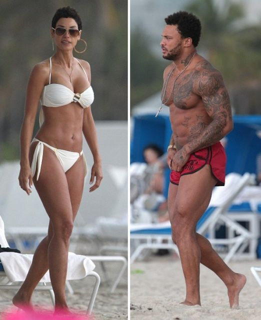 PHOTOSHOOT FRESH: Nicole Murphy Parades Her Bikini Bod On Miami Beach With Fitness Model David McIntosh | The Young, Black, and Fabulous