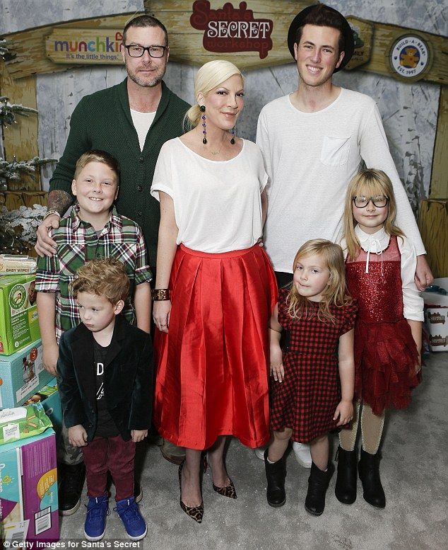 Family first: The actress, who was joined by her husband, Dean McDermott, and their childr...