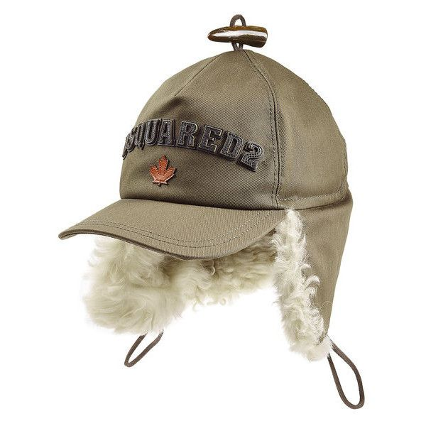 Dsquared2 Baseball Cap with Fur (425 CAD) ❤ liked on Polyvore featuring men's fashion, men's accessories, men's hats and mens fur hats