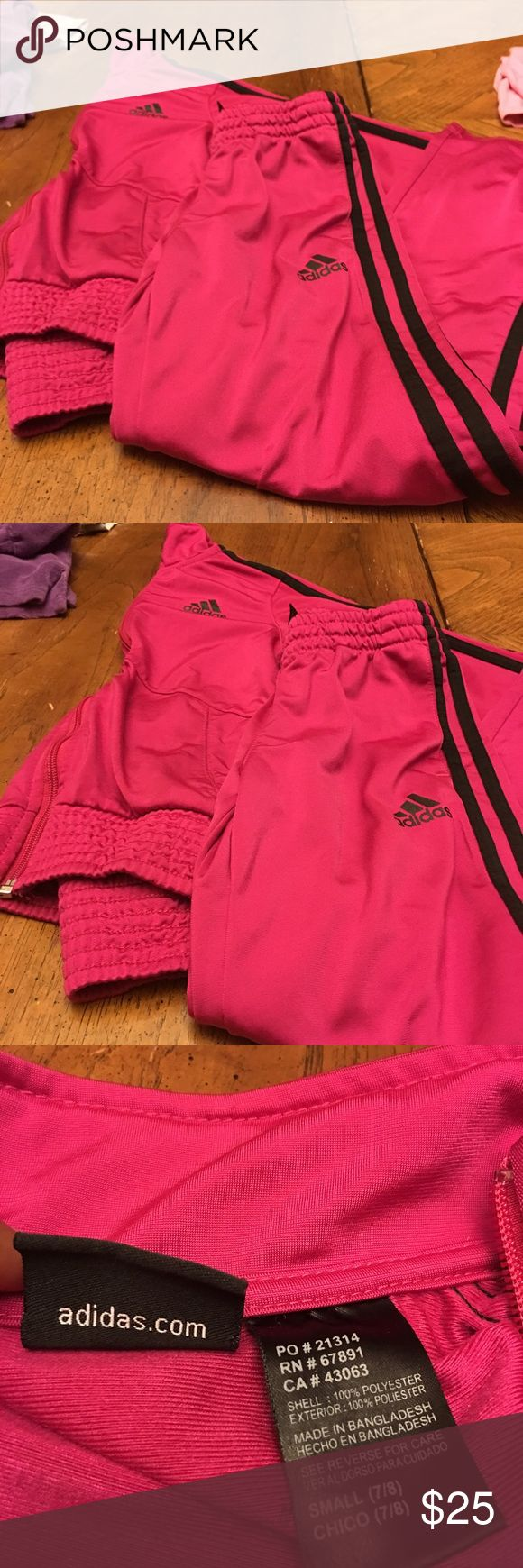 Jogger suit for kids Pink and black jogging suits for girls adidas Other