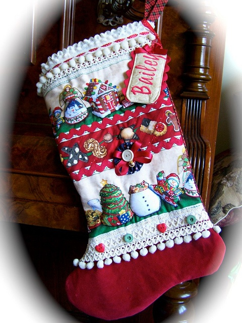 Custom Stocking for Bailey. by Created by Cath. Lots of lovely unique items at www.decorativehomecrafts.com    via Flickr