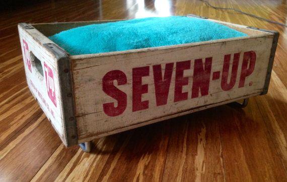Vintage riproposto Seven-up soda cassa domestico letto