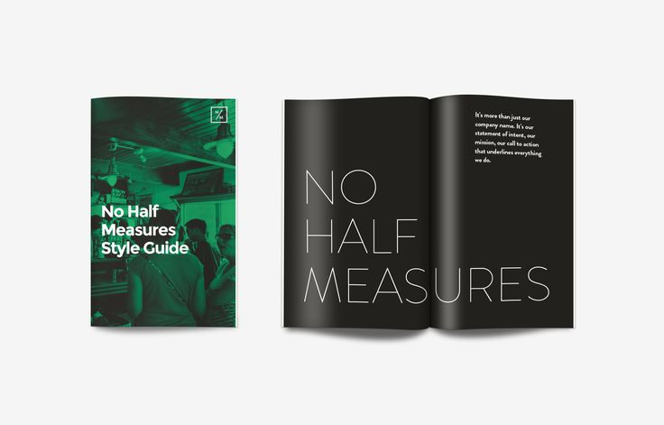 Branding, logo design and brand guidelines development for drinks company No Half Measures.