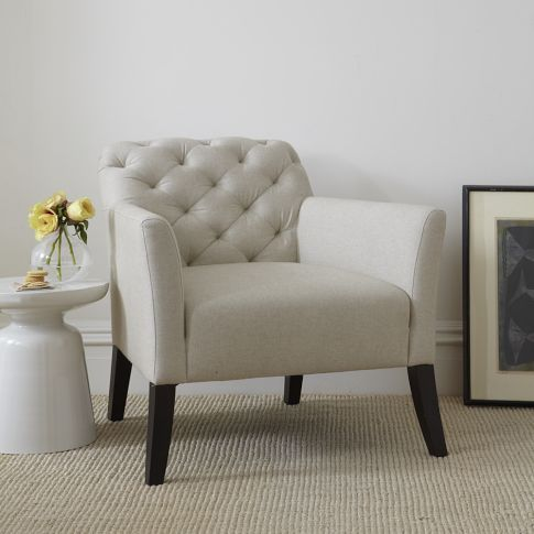 Shopping for new living room arm chairs. Might be my favorite one so far... too bad it's not the cheapest. Elton Arm Chair, Basketweave, Flax. Elton Chair | west elm