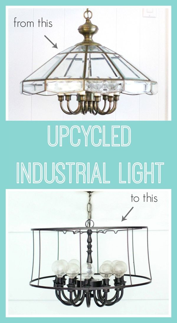 Diy industrial light an upcycled lighting project