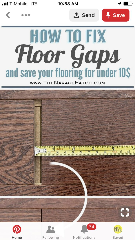 How to Fix Floating Floor Gaps Diy flooring, Floating
