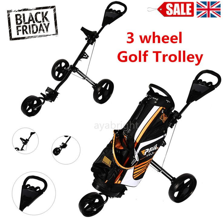 #Greenway 3 #wheel #trolley golf cart steering front #wheel push/pull golf #trolley,  View more on the LINK: 	http://www.zeppy.io/product/gb/2/291938604194/