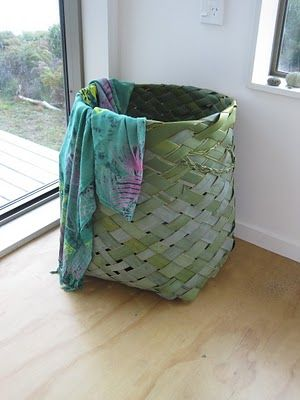 New Zealand flax laundry basket