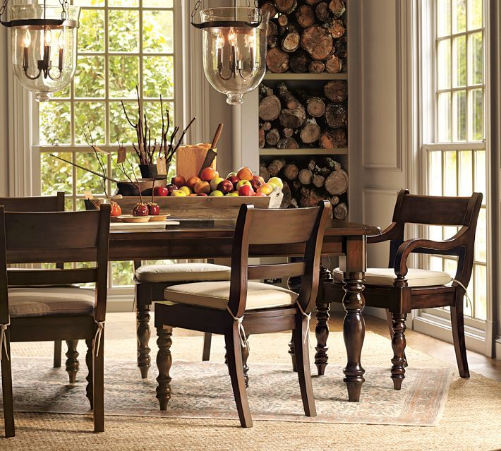 Love The Chandeliers. Also The Idea Of Wood Storage. Not Necessarily In The  Dining · Table ...