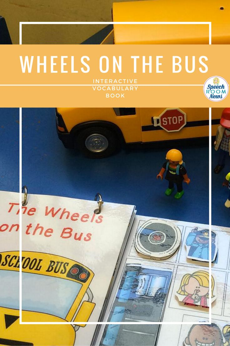 Wheels on the Bus interactive song book for kids! This is a great way to engage special needs learners!