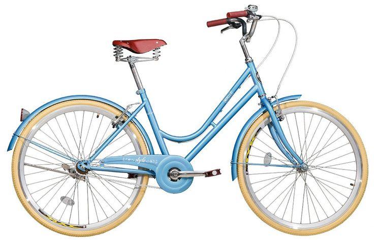 bicicleta style novello blitz vintage aro 26 retrô campainha
