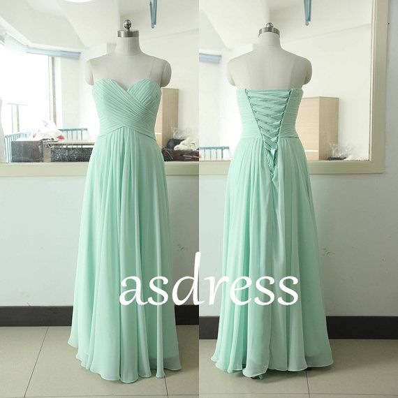 Light blue Long dress, Sky blue brides A Party Dress Sweetheart Backless Dress Sage Green Party Dress Green Prom Dress Gorgeous Pastel Dress