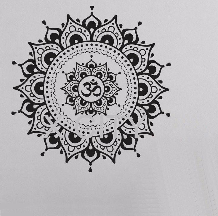 Mandala Pattern Big Wall Decal Vinyl Art Sticker (3 sizes)
