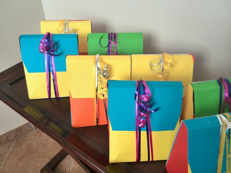 Colourful party packs