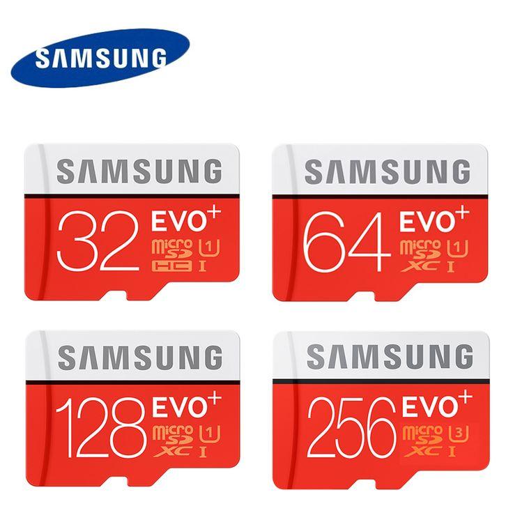 SAMSUNG Memory Card 16G 32G 64G 128G 256G SDHC/SDXC U1/U3 4k Grade EVO+ MicroSD Class 10 Micro SD C10 UHS TF Trans Flash
