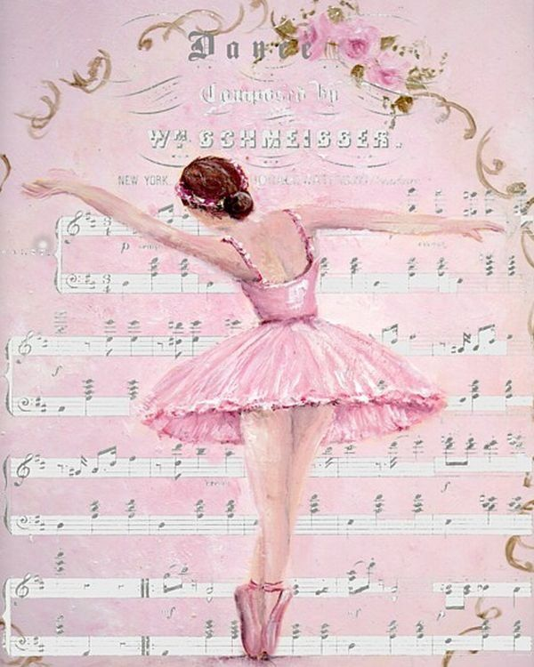Картинки балерин день рождения